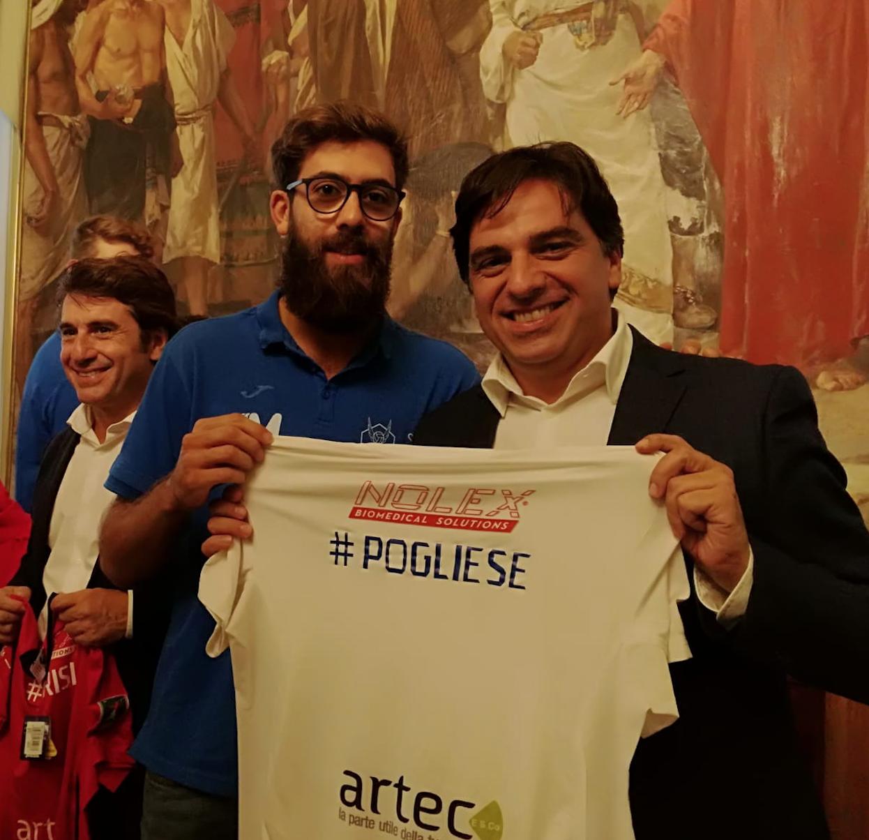 Volley Catania - Juan Finoli e il Sindaco Salvo Pogliee