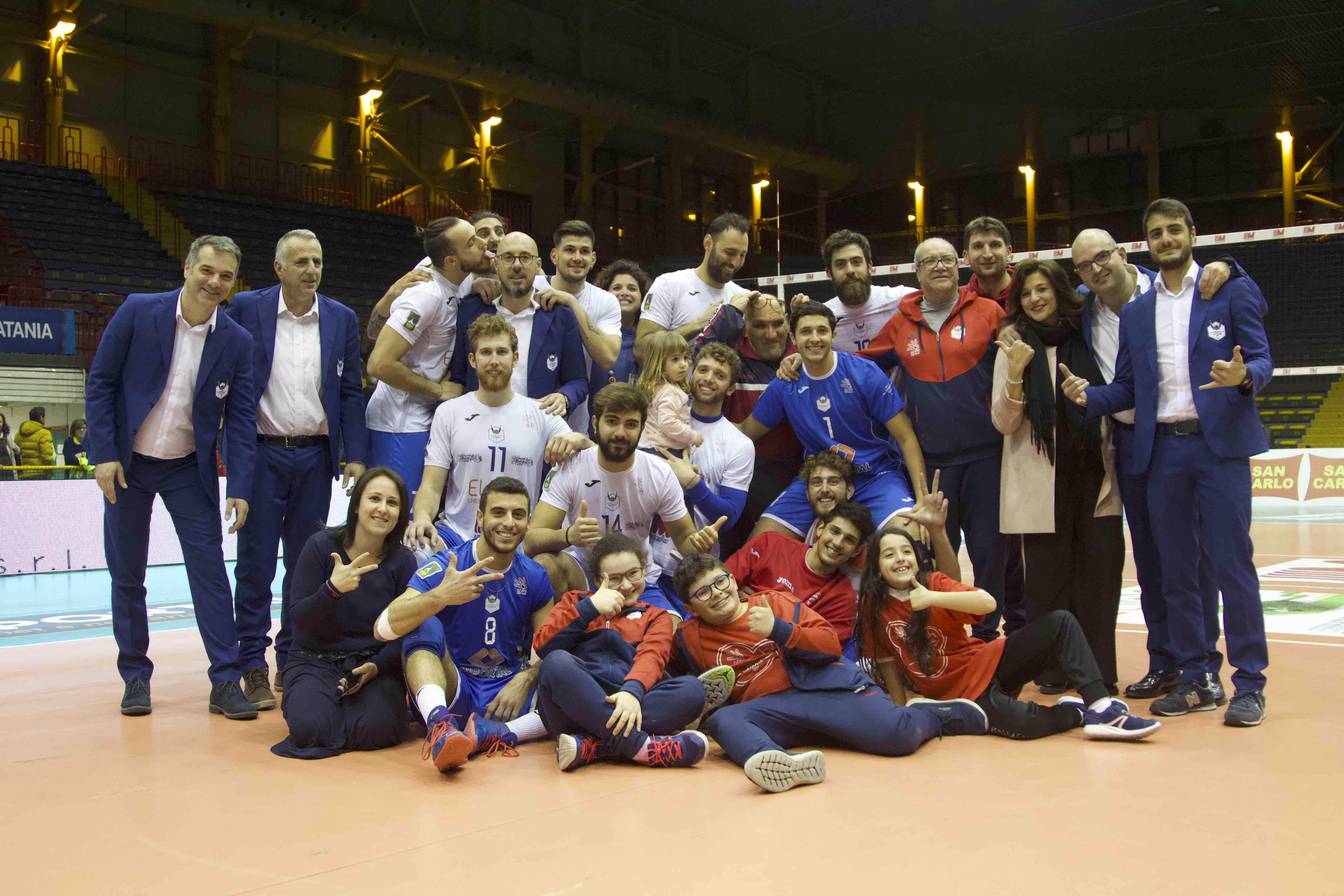 Volley Catania - Vittoria contro il Club Italia