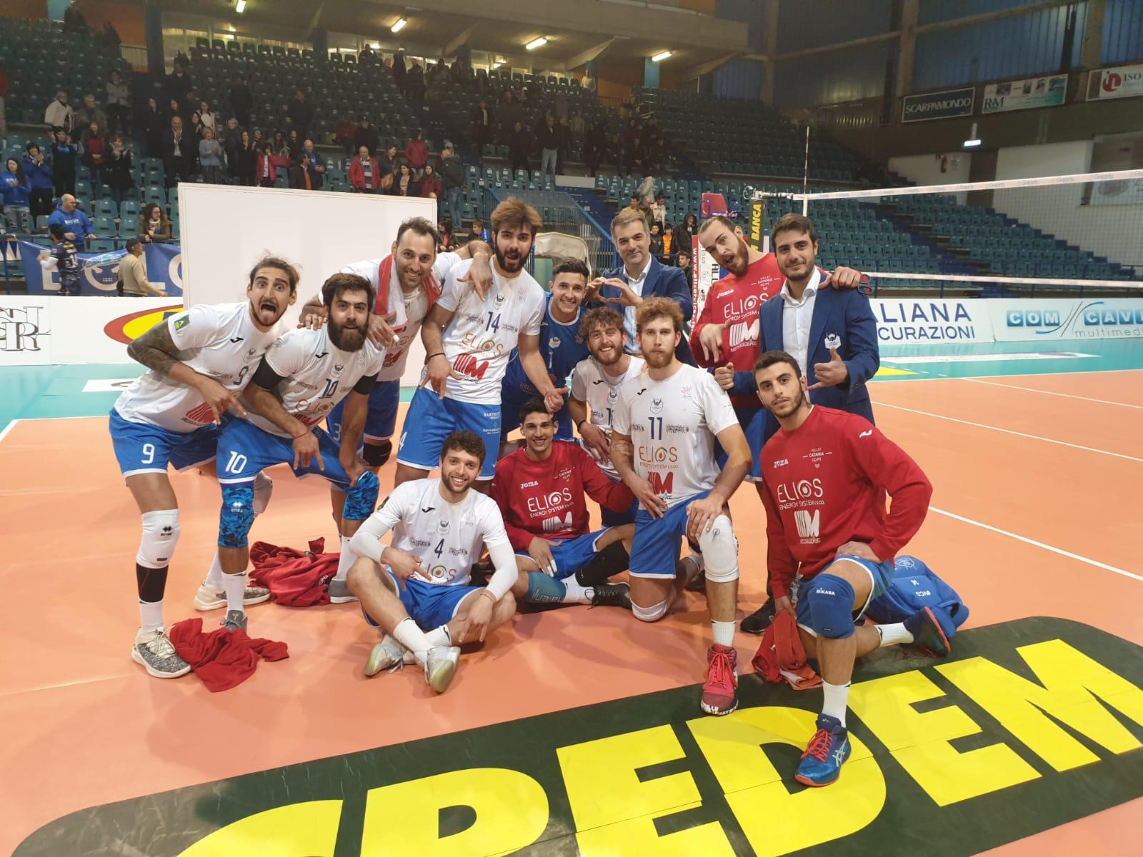Volley Catania - Vittoria contro Tuscania