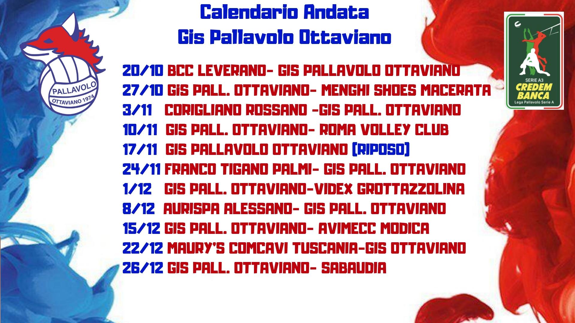 Globo Sora Calendario.Serie A3 Credem Banca Tutto Il Calendario Della Gis