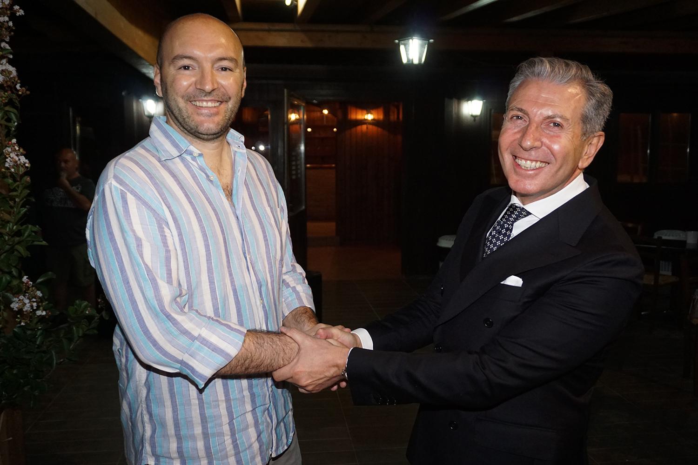 Luca Marini e il Presidente Veronese