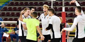 Esultanza gruppo Verona Volley