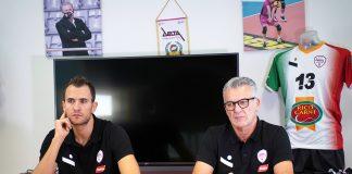 03. Delta-Mondovì - Barone e coach Zambonin in conferenza stampa